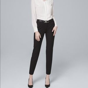 WHBM COMFORT STRETCH SLIM ANKLE PANTS